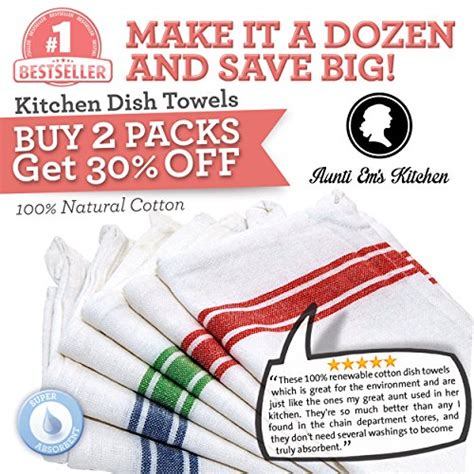 kitchen dish towels 100 cotton vintage stripe 6 pack size kitchen dish towels with vintage design super absorbent