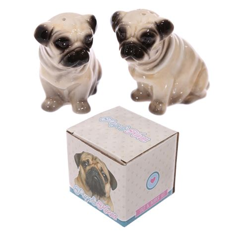 ceramic pug ceramic pug salt and pepper set 16638 puckator ltd