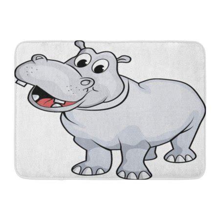 hippo bath rug godpok characters white hippo hippopotamus