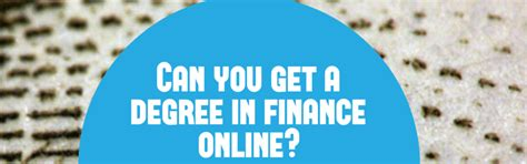 What Can I Get With Mba In Finance by Can You Get A Degree In Finance College Plan