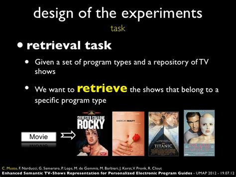 design of experiment dataset enhanced semantic tv shows representation for personalized