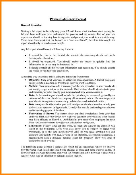 10 simple lab report example intern resume