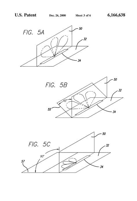sketch radiation pattern patent us6166638 rf id transponder with squinted beam