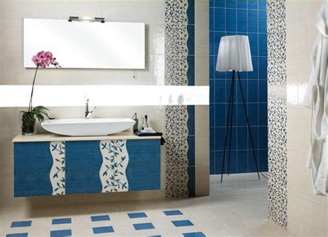 blue bathroom furniture 5 techniques to use blue color in bathroom tile design in
