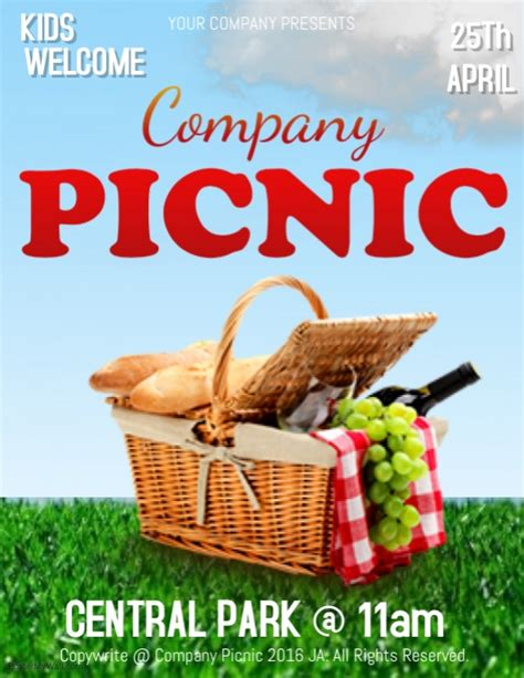 picnic flyer template company picnic flyer editable pictures to pin on pinsdaddy