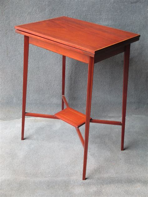 Small Card Table by Small Fold Card Table C 1910 Loveantiques