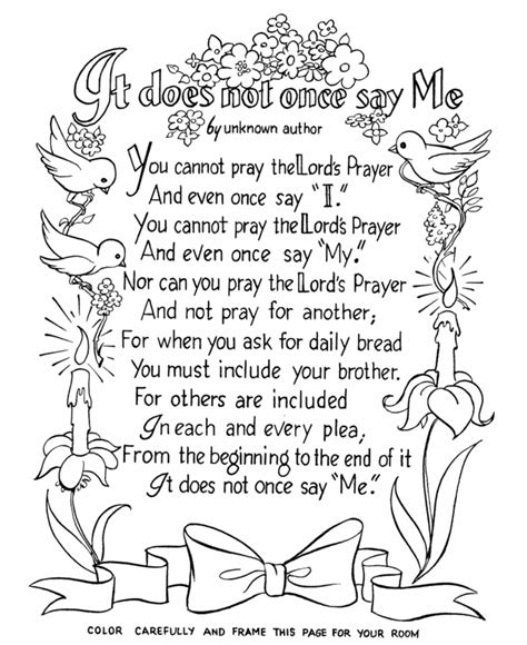 printable coloring pages about prayer the lords prayer coloring page crafts 2 pinterest