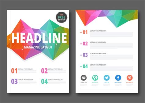 vector layout system free geometric magazine layout vector download free