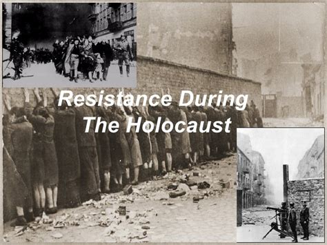resistors of the holocaust resistance in the holocaust