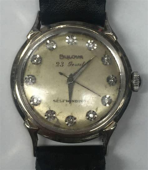Nelson Mechanical 23jewels vintage bulova 23 self winding 14k white gold