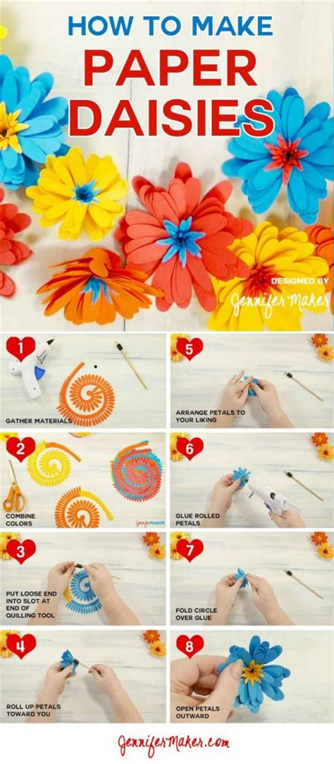 How To Make Paper Daisies - paper an easy rolled flower maker