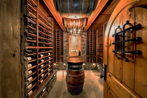 Log Cabin Winery by Log Cabin Mediterranean Wine Cellar Other Metro By