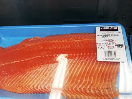 Fresh Trouth Salmon Fillet 400gr seafood at costco australia loaded trolley