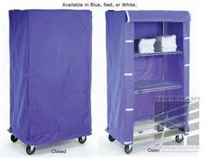 cart shelving covers in colored or clear vinyl