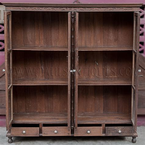 display cabinet with drawers rare antique thai teak display cabinet with drawers and