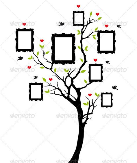 family tree portrait template photo family tree template 17 free word excel pdf