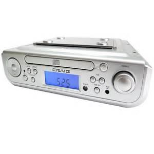 Under cabinet cd player with bluetooth am fm radio amp alarm clock