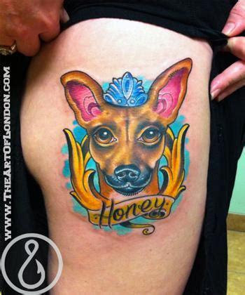 cartoon tattoo artist london honey the chihuahua foxie dog tattoo by london reese
