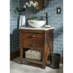 bathroom vanities with sinks and faucets style selections cromlee bark vessel single sink poplar