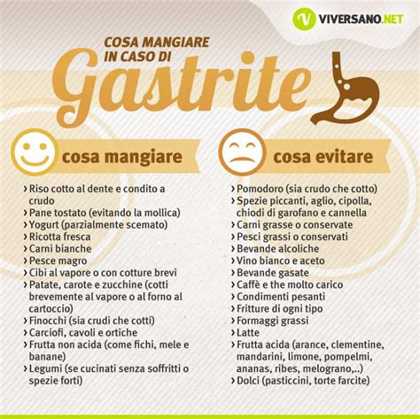 alimenti da evitare con la gastrite cosa mangiare con la gastrite i cibi da preferire e da