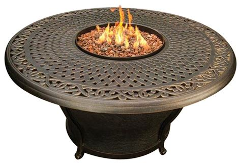 Table Top Gas Pit Charleston Cast Top Gas Pit Table Modern