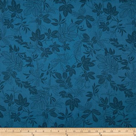 Coverlet Fabric 108 Quot Wide Quilt Back Modern Leaf Federal Blue Discount