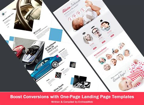 one page landing page template boost conversions with one page landing page templates