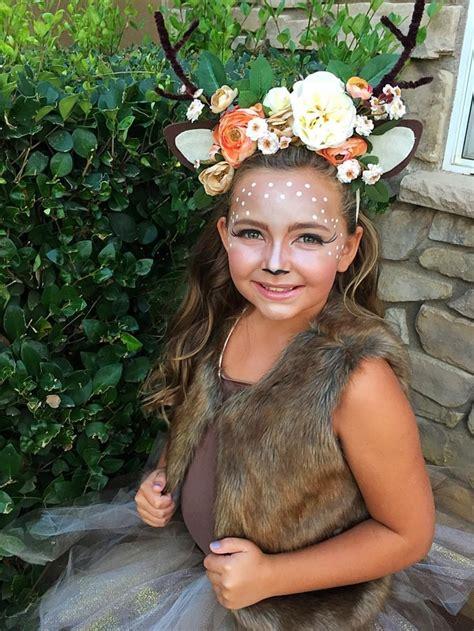 bambi kostuem selber machen kinder fellweste geweih selber