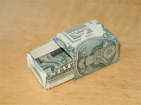 Origami Dollar Box - an origami koi fish made with a 1 dollar bill rebrn
