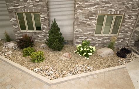 rock bed rock beds prairie view landscaping irrigation