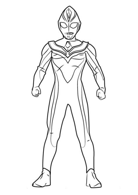 Gambar Berikut Gambar Sketsa Ultraman Diwarnai Cari