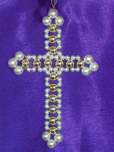 beaded ornament kits fancy cross chrismon style ornament bead kit
