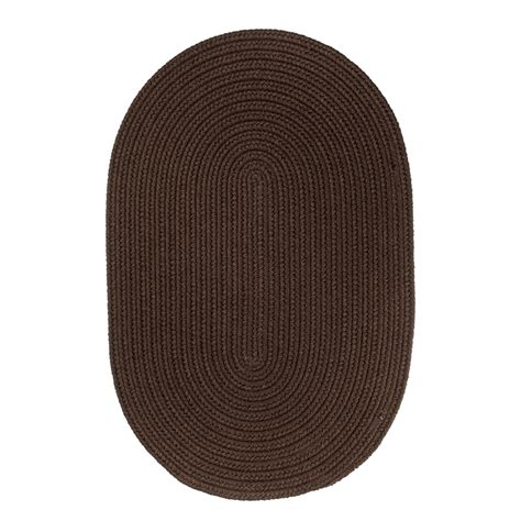 oval rugs 7x9 wearever brown poly 7x9 oval