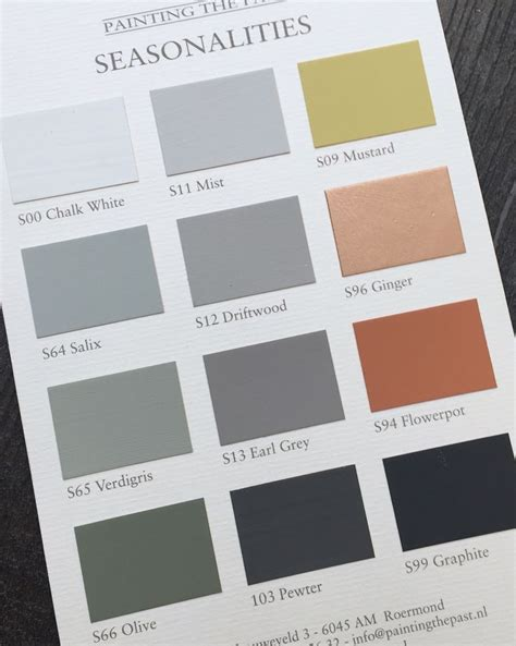 chalk paint color combinations 23 best colourcard painting the past images on