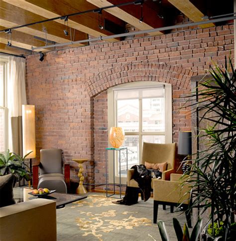 brick loft hensel design studios portfolio classic brick loft
