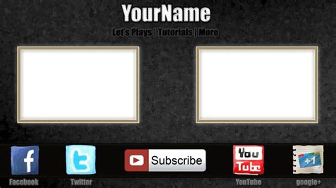 free outro template 0004 2d paint net photoshop