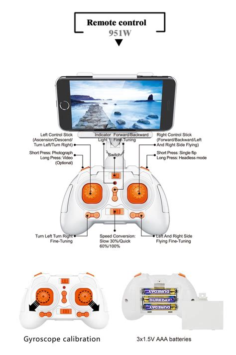 pocket drone with wifi real time transmitter momeaz