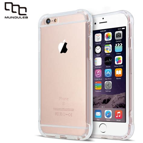shockproof soft tpu cover for iphone 6 plus clear slim silicone capa 8 plus 7 plus