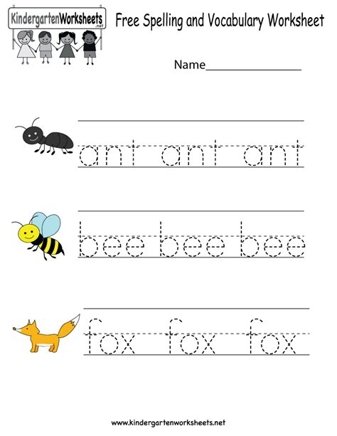 Spelling Words Printable Worksheets by Free Printable Spelling And Vocabulary Worksheet For