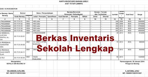 format laporan barang contoh format berkas dan laporan inventaris barang sekolah