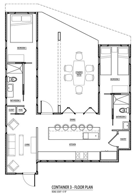cargo container floor plans container house on pinterest shipping container house