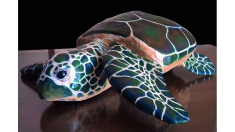How To Make A Paper Mache Turtle - papier mache sea turtle paper m 226 ch 233