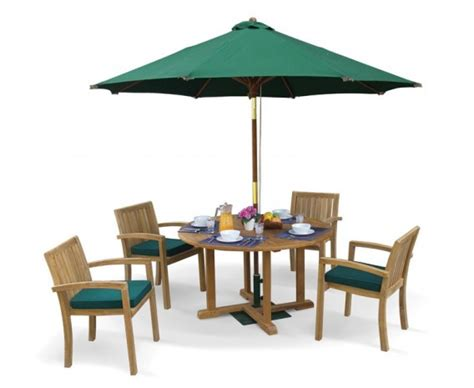 teak wood patio table and chairs canfield teak patio table and stacking chairs