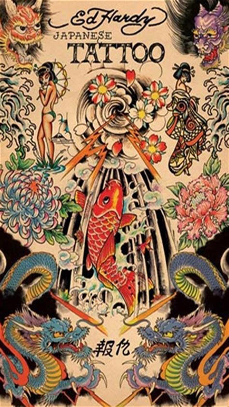 tattoo wallpaper hd iphone ed hardy japanese tattoo
