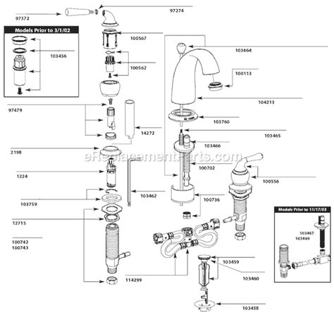 Discontinued Moen Kitchen Faucets moen t4572 parts list and diagram ereplacementparts com