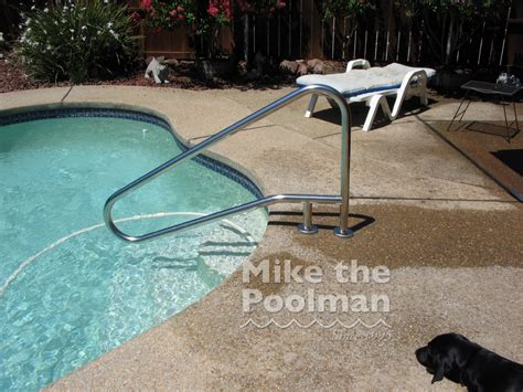 Swimming Pool Handrails Installation mike the poolman