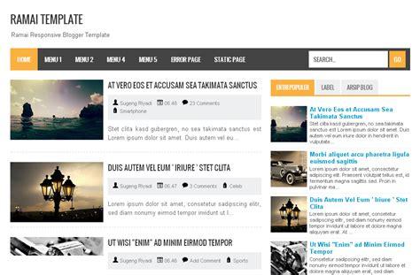 template blog seo friendly responsive ringan dan simple