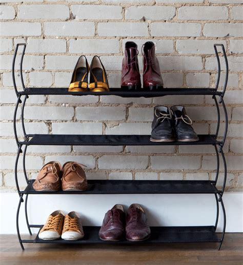 black shoe rack storage umbra stacking shoe storage rack black set of 2 in