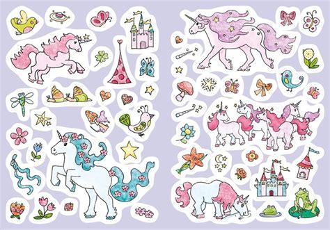 Sticker Drucken Glitzer by Glitzer Sticker Malbuch Einh 246 Rner Tessloff Online Shop