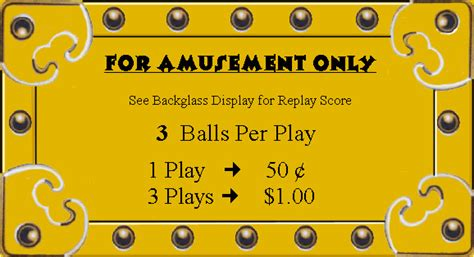 Pinball Card Template by Ken S Custom Pinball Pay For Play Pricing Cards S T